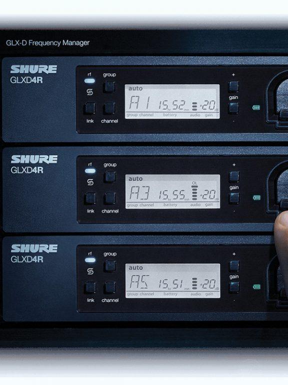 Cyfrowy system bezprzewodowy – konfiguracja sprzętu Shure GLXD