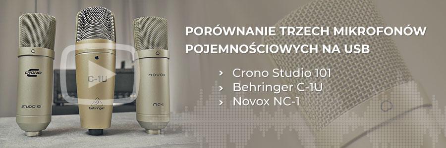 Crono Studio 101 vs Novox NC1 vs Behringer C1U