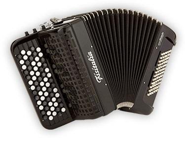 Fisitalia 40.22-FB  40(67)/2/3C  72(36)/2(1)  akordeon guzikowy z konwertorem (czarny)