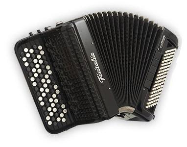 Fisitalia 46.24-FB  46(62)/2/3C  102(40)/4(2)/5  akordeon guzikowy z konwertorem (czarny)
