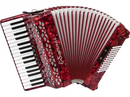 E.Soprani 737 KK  34/3/5 72/4/2 akordeon (czerwony)