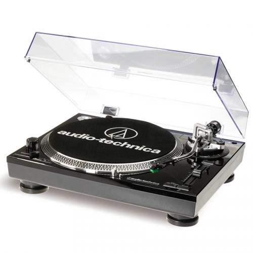 Audio Technica AT-LP120-HC gramofon z napędem bezpośrednim, czarny, interface USB + wkładka AT95