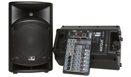 Novox Mixtour prznośny system nagłośnieniowy 2x200W MP3/USB