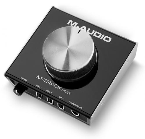 M-Audio M Track Hub cyfrowo-analogowy konwerter USB, wbudowana funkcja HUB USB (x3)