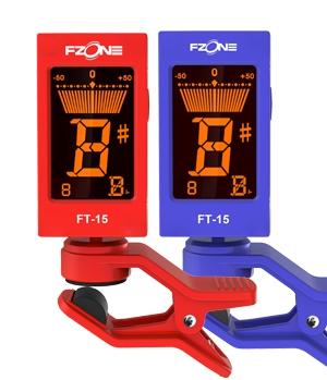 Fzone FT 15BL tuner chromatyczny z klipsem mocującym niebieski