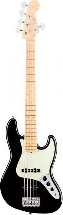 Fender American Pro Jazz Bass V MN Black gitara basowa
