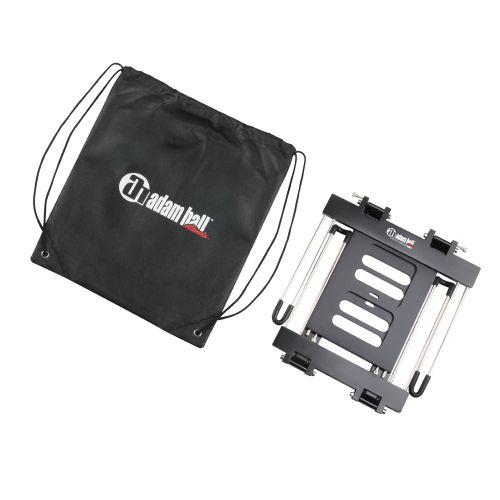 Adam Hall SLT 006 B - Składany stojak na laptopa z półką, czarny