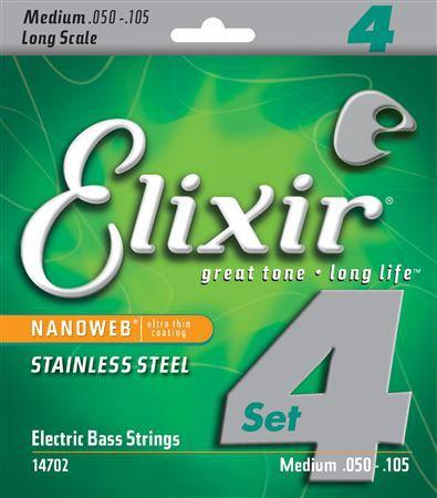 Elixir 14702 NW stainless steel struny do gitary basowej 50-105