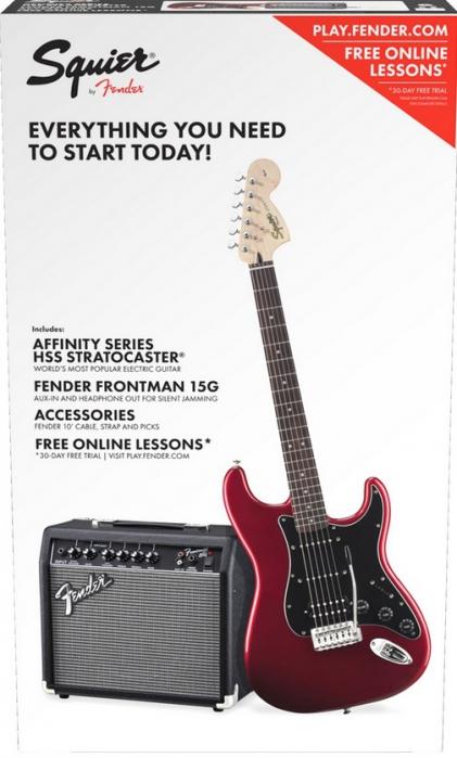 Fender Squier Affinity Stratocaster HSS CAR gitara elektryczna, zestaw wzmacniacz 15W