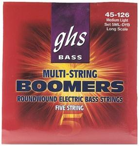 GHS Bass Boomers struny do gitary basowej 5-str. Medium Light , .045-.126