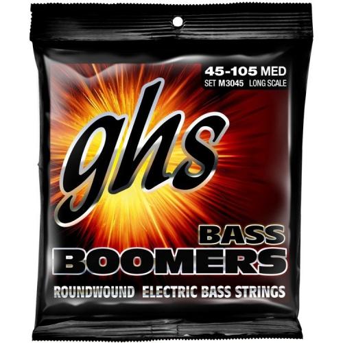 GHS Bass Boomers struny do gitary basowej 4-str. Medium, .045-.105, Extra Long Scale