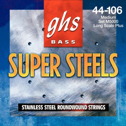 GHS Super Steels struny do gitary basowej, 4-str. Medium, .044-.106