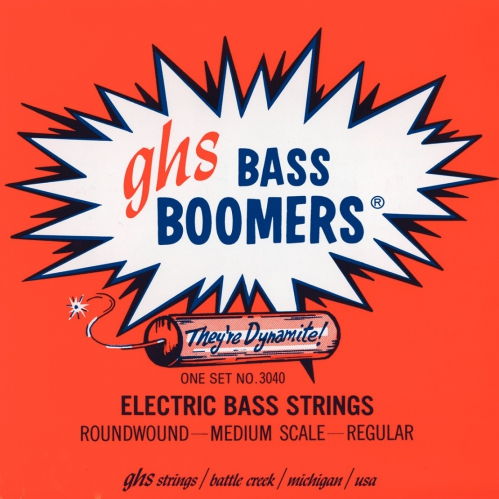 GHS Bass Boomers struny do gitary basowej 4-str. Regular, .045-.105, Medium Scale