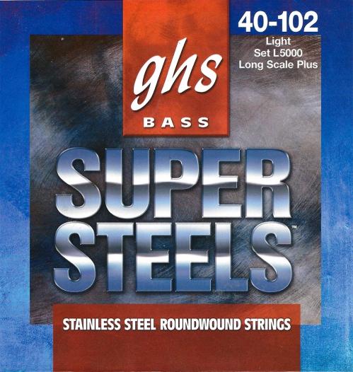 GHS Super Steels struny do gitary basowej, 4-str. Light, .040-.102