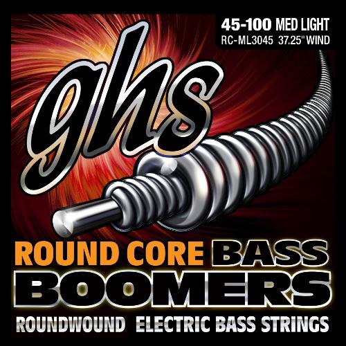 GHS Round Core Bass Boomers struny do gitary basowej, 4-str. Medium Light, .045-.100