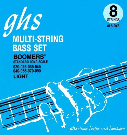 GHS Bass Boomers struny do gitary basowej 8-str. Regular, .020-.090