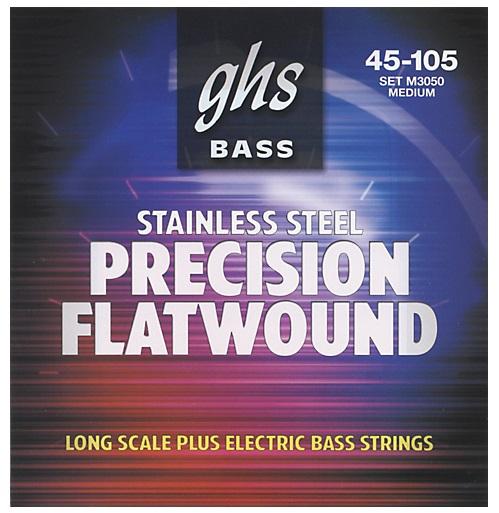 GHS Precision Flatwound struny do gitary basowej, 4-str. Medium, .045-.105