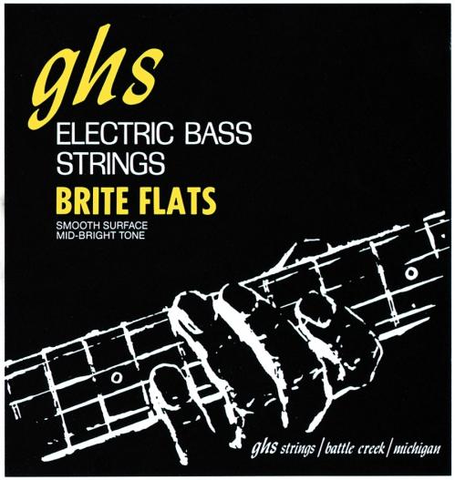 GHS Brite Flats struny do gitary basowej 4-str. Medium, .049-.108