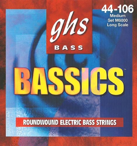 GHS Bassics struny do gitary basowej 4-str. Medium, .044-.106
