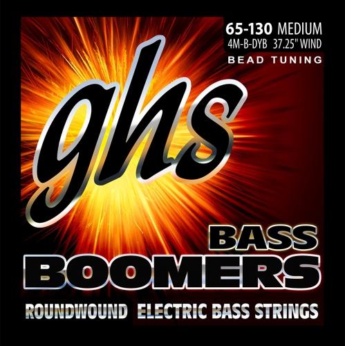 GHS Bass Boomers struny do gitary basowej 4-str. Medium, .065-.130, BEAD Tuning
