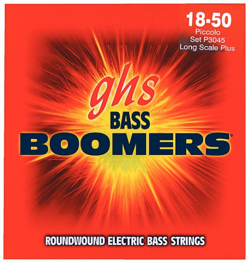 GHS Bass Boomers struny do gitary basowej 4-str. Piccolo, .018-.050, Extra Long Scale