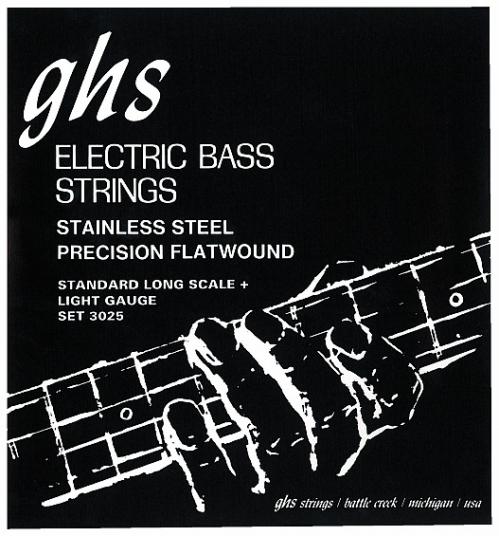 GHS Precision Flatwound struny do gitary basowej, 4-str. Light, .045-.095
