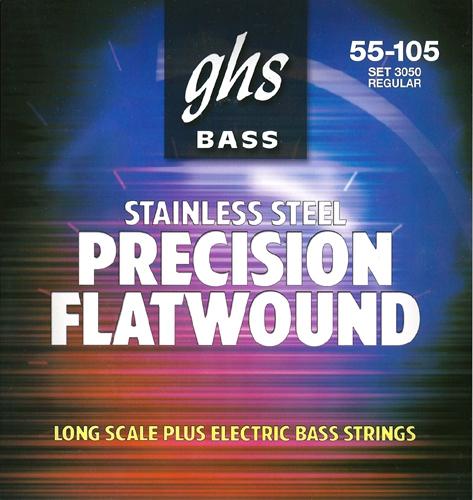 GHS Precision Flatwound struny do gitary basowej, 4-str. Regular, .055-.105