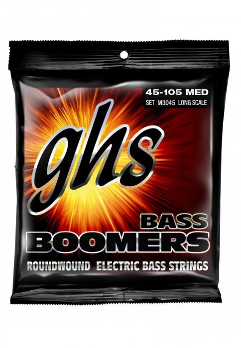 GHS Bass Boomers struny do gitary basowej 4-str. Medium, .045-.100, Medium Scale