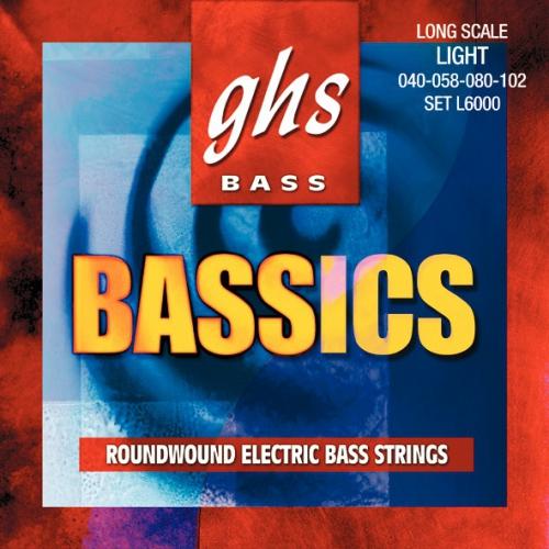 GHS Bassics struny do gitary basowej 4-str. Light, .040-.102