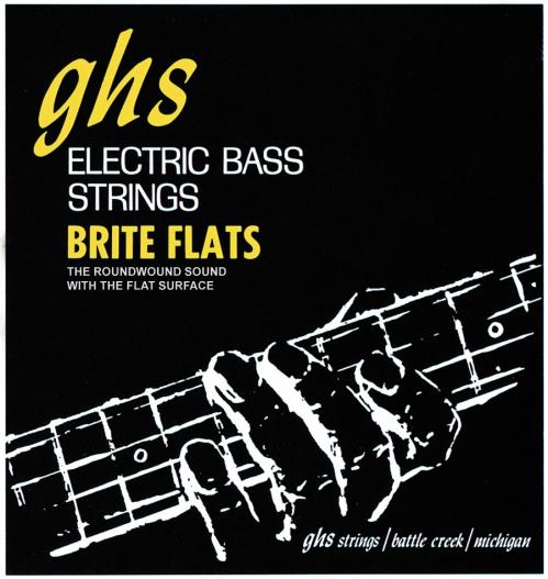 GHS Brite Flats struny do gitary basowej 4-str. Regular, .049-.108, Short Scale