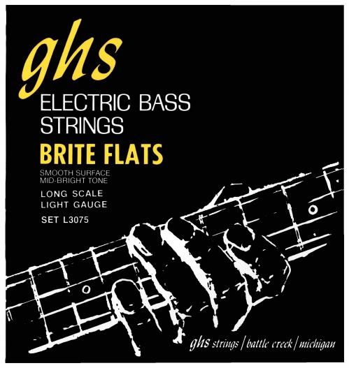GHS Brite Flats struny do gitary basowej 4-str. Light, .045-.098