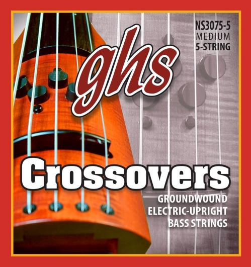 GHS Crossovers - Electric Upright struny do gitary basowej, 5-str. Regular, .047-.127