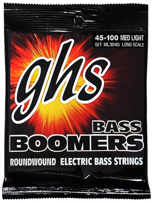 GHS Bass Boomers struny do gitary basowej 4-str. Medium Light, .045-.100