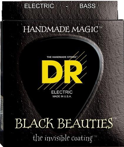 DR BKB6-30 Extra Black Beautie Medium struny do gitary basowej 030 - 125
