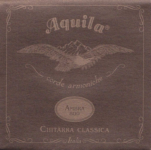 Aquila Ambra 800 - Nylgut & Silver Plated Copper / Classical Guitar struny do gitary klasycznej