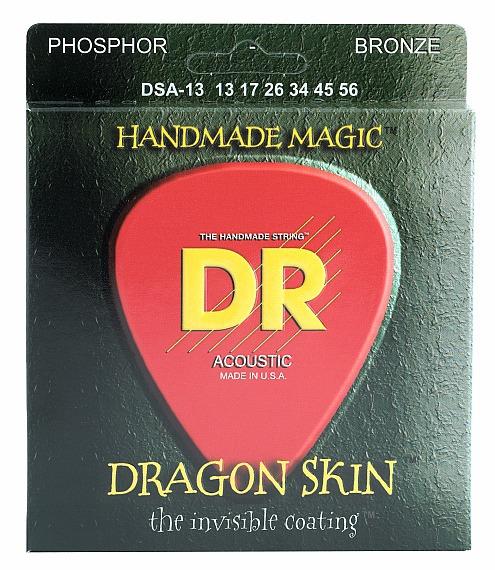 DR DRAGON SKIN - struny do gitary akustycznej, Coated Phosphor Bronze, Medium Heavy, .013-.056