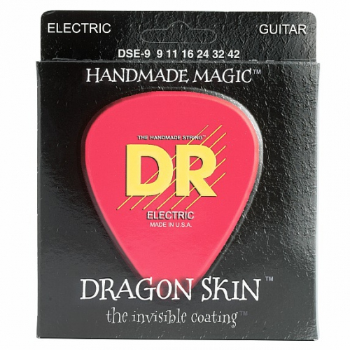 DR DRAGON SKIN - struny do gitary elektrycznej, Light, .009-.042