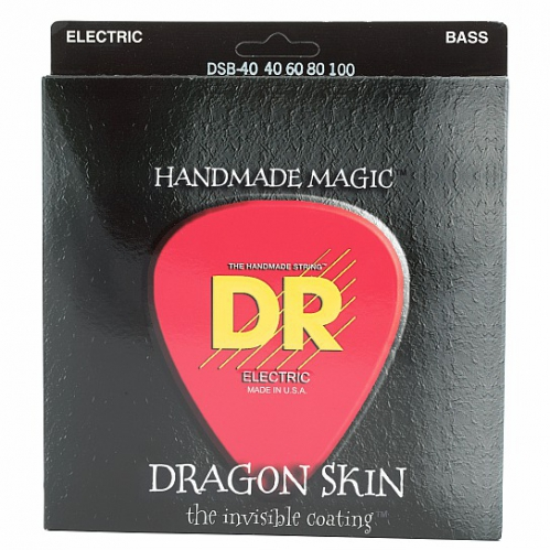 DR DRAGON SKIN - struny do gitary basowej, 4-String, Coated, Light, .040-.100