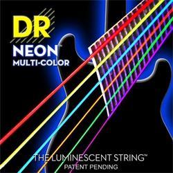 DR NEON Hi-Def Multi-Color - struny do gitary elektrycznej, Medium, .010-.046