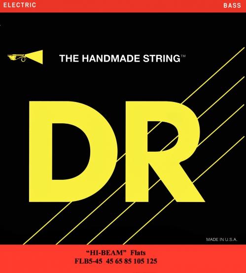 "DR HI-BEAM Flats "" struny do gitary basowej, 5-String, Heavy, .045-.125"
