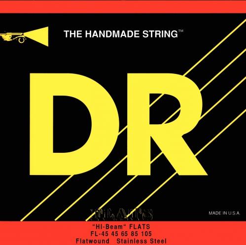 "DR HI-BEAM Flats "" struny do gitary basowej, 4-String, Medium, .045-.105"