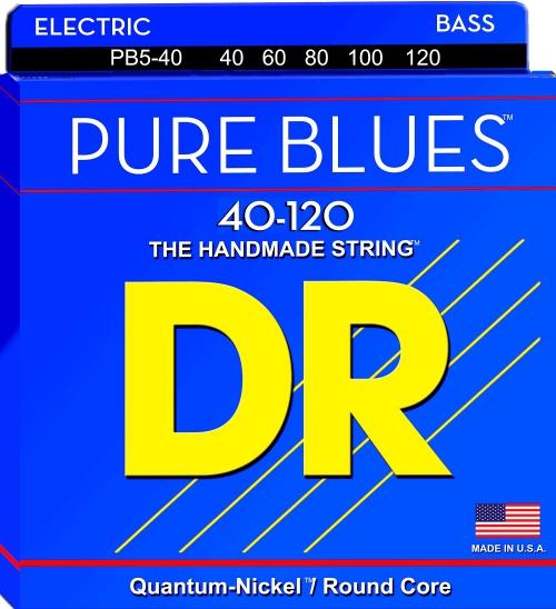 DR PURE BLUES - struny do gitary basowej, Light, .040-.120