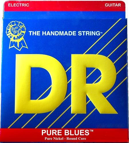 DR PURE BLUES - struny do gitary elektrycznej, .012-.052, wound G-String