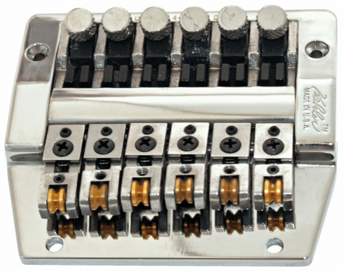 Kahler 3300 - Hybrid Fixed Bridge, Fine Tuning, Brass Saddles - chromowany  mostek do gitary