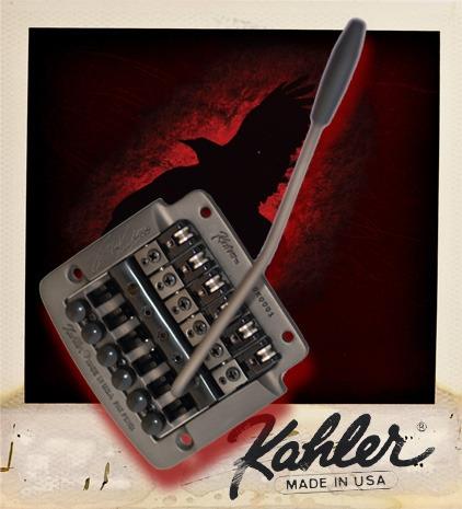 Kahler 2315 - Kerry King Edition Flat Mount Guitar Tremolo, Brass Cam, Steel Saddles - czarny  mostek do gitary