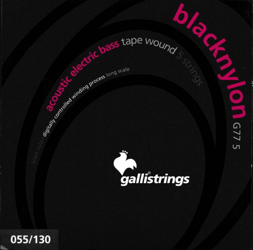 Galli G775 BlackNylon - struny do gitary basowej