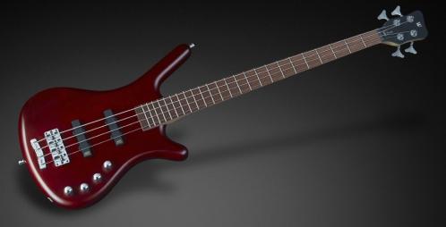 RockBass Corvette Basic 4-String, Burgundy Red Transparent Satin, Fretted gitara basowa