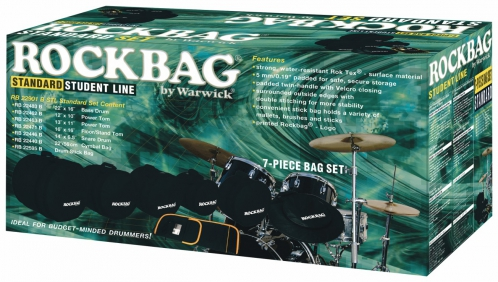 RockBag Student Line - Drum Flat Pack Standard Bag Set