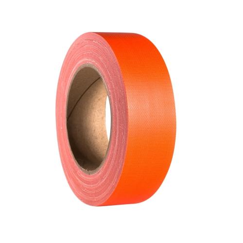 Adam Hall Accessories 58065 NOR - Taśma klejąca Gaffer, pomarańczowa neonowa, 38mm x 25 m