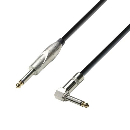 Adam Hall Cables K3 IPR 0900 - Kabel instrumentalny jack mono 6,3 mm - jack mono 6,3 mm wtyczka kątowa, 9 m